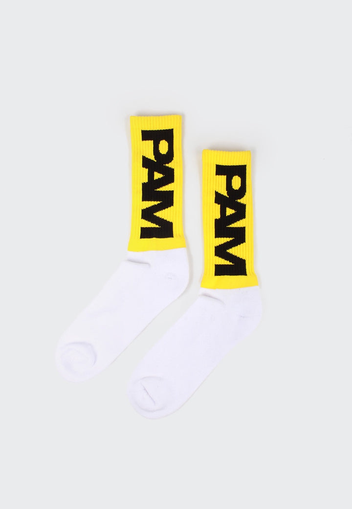 Perks and Mini P.A.M SL Sport Socks - yellow/white — Good as Gold