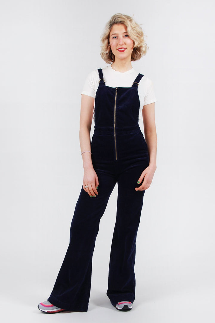 Rollas Eastcoast Flare Overalls - midnight cord | GOOD AS GOLD | NZ