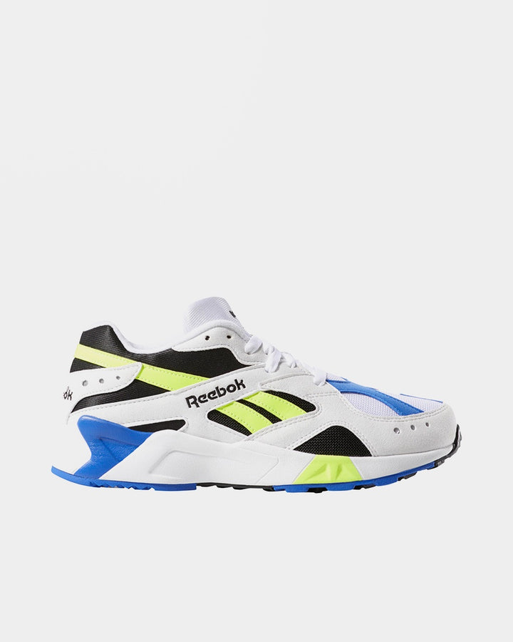 Reebok Aztrek - og white/black/cobalt/yellow — Good as Gold
