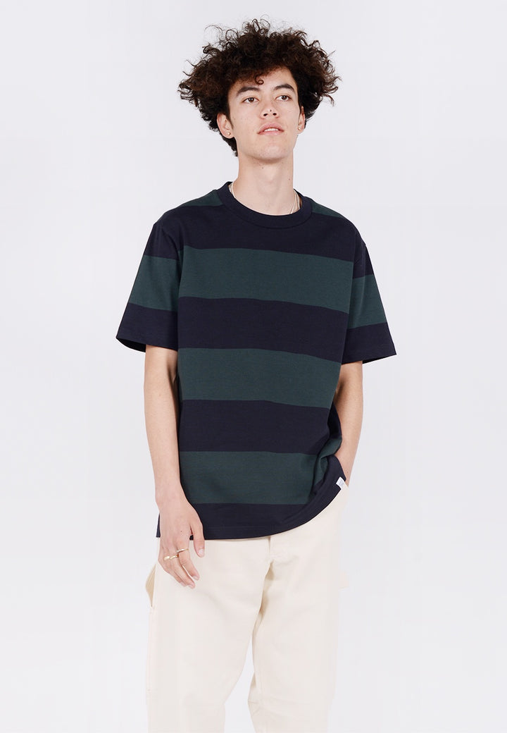 Norse Projects Johannes Border T-Shirt - spinnaker green - Good As Gold