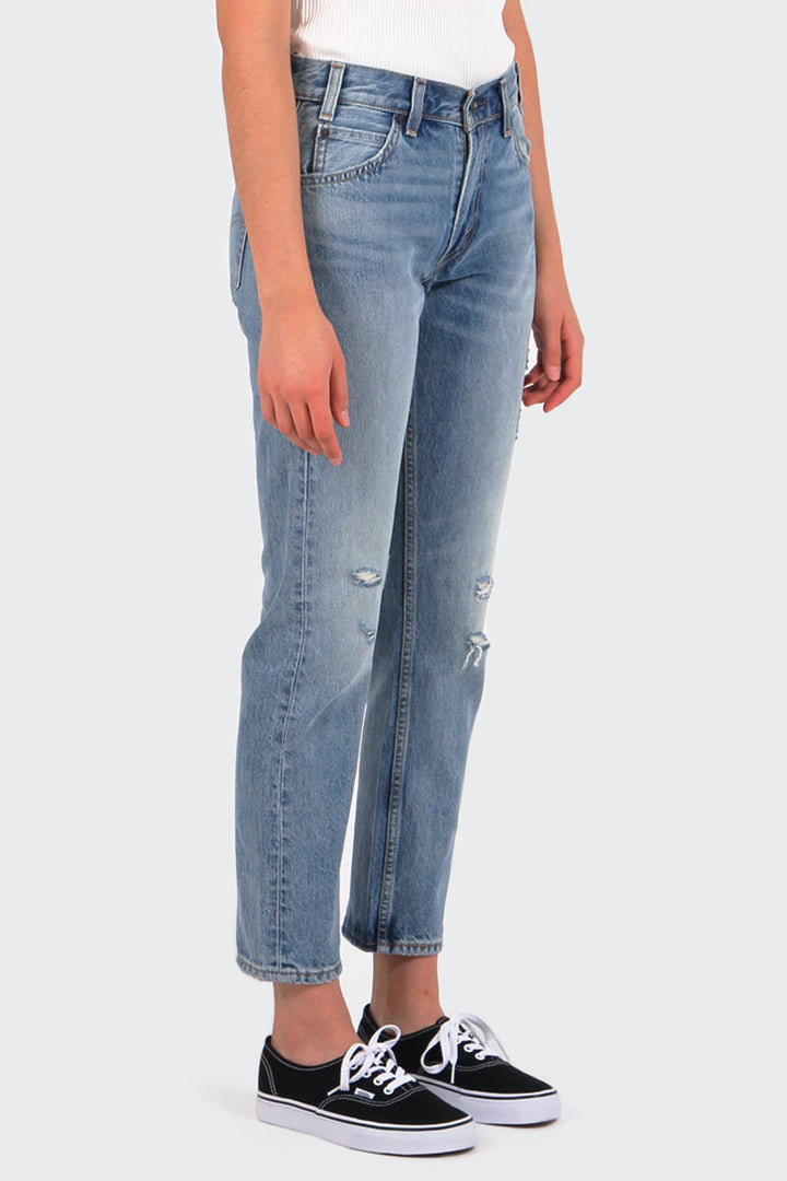Orange Tab 505 Cropped Jeans - heat stroke | GOOD AS GOLD | NZ