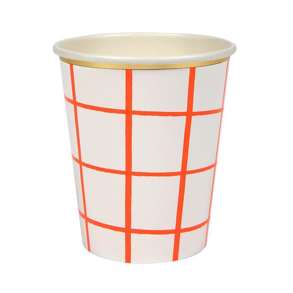 Coral Grid Cups