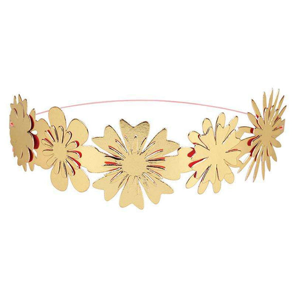 Gold Flower Party Crowns