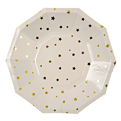 Gold Star Plates - 7""