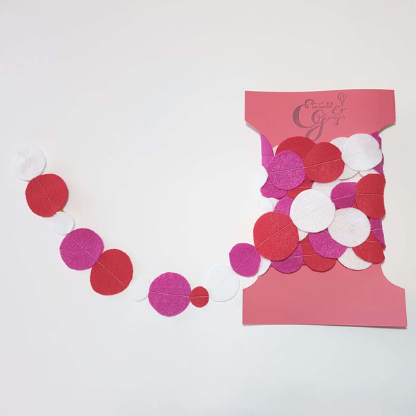 Pink & Red Dots Garland