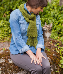 Fir Cone Lace Shawl & Scarf Pattern