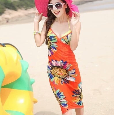 Lozanoo beautiful multicolor beach cover up.