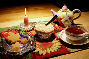 assorted maple products with tea