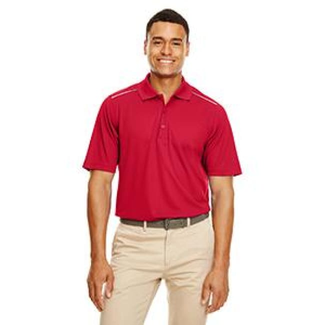 Mens Radiant Performance Piqué Polo With Reflective Piping - Polo