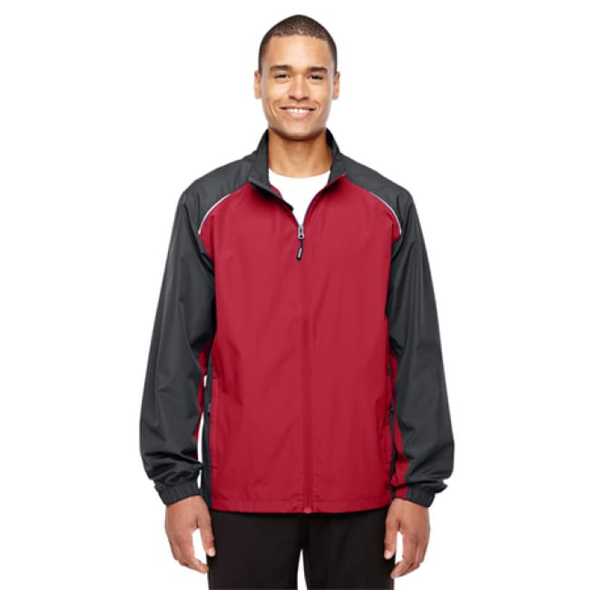 Mens Stratus Colorblock Lightweight Jacket - Xsmall / Classic Red/carbon - Outerwear