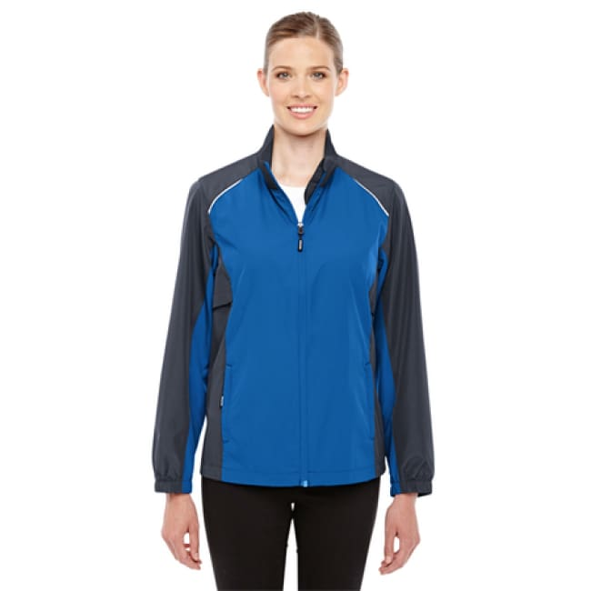 Unisex Ladies Stratus Colorblock Lightweight Jacket - Xsmall / True Royal/carbon - Outerwear