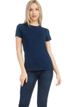 WOMENS S/S COMBED COTTON CREW NECK TEE - MolaInc