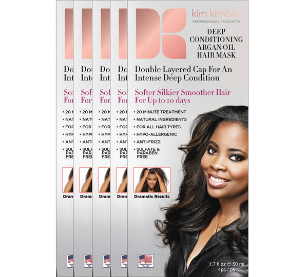 Kim Kimble Deep Conditioning Argan Oil Hair Mask (5-Pack)