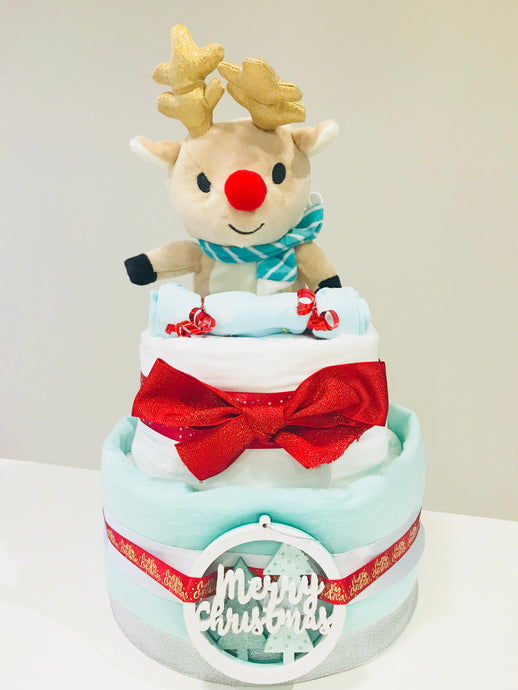 Reindeer Two Tier Nappy Cake