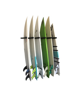 Wall Mounted Surfboard Rack 6 Board Vertical