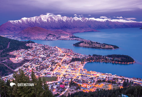 SQT809 - Queenstown From Chalet - Small Postcard