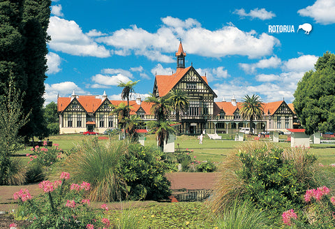 SRO242 - Rotorua Museum Of Art And History - Small Postcard