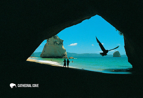SWA549 - Cathedral Cove, Coromandel - Small Postcard