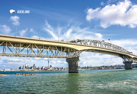 SAU99 - Auckland Harbour Bridge - Small Postcard