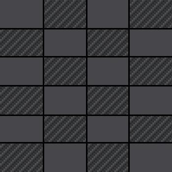 "GO Black | Matte Mosaic 12""x12"" 