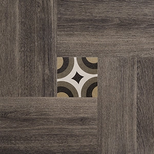 "Inside 50 Porcelain Tile | Brown Deco | 20""x20"""