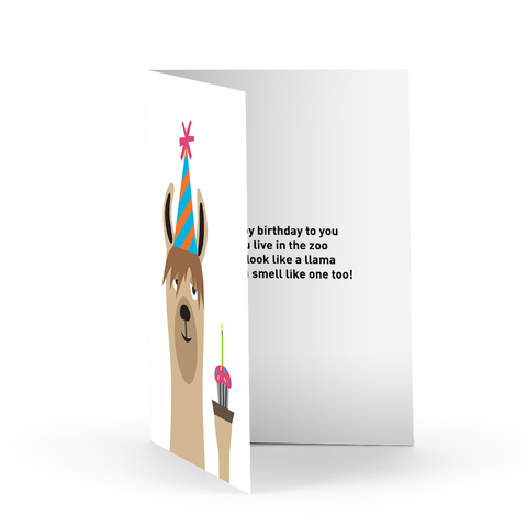 Birthday Llama Greeting Card