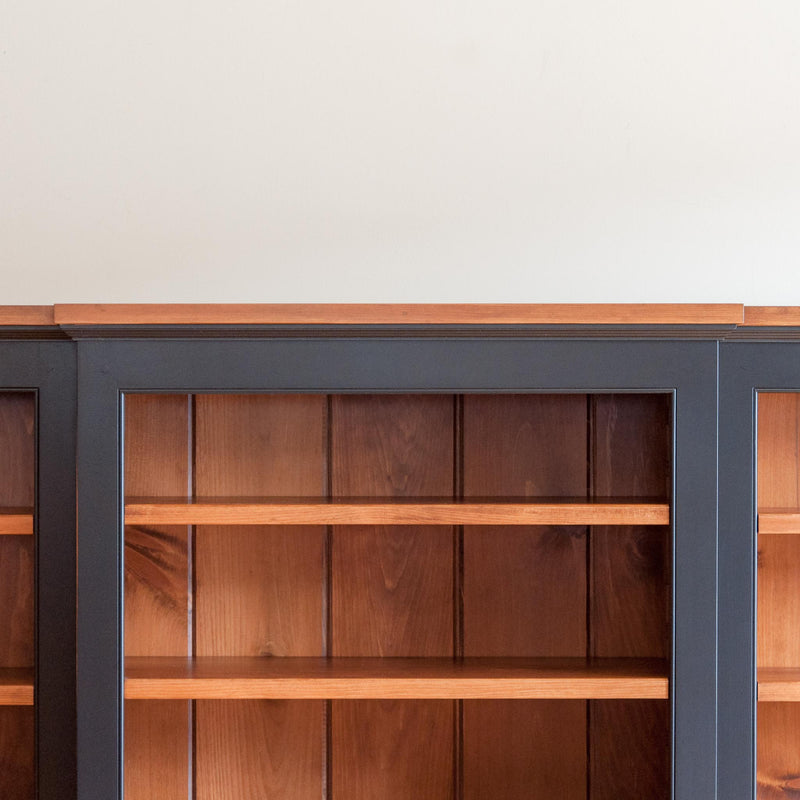 Robbins Breakfront Bookcase in Black/Williams