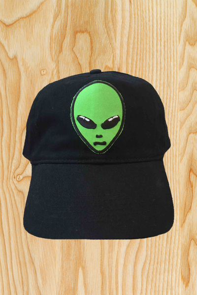 GREEN ALIEN ABDUCTION HAT