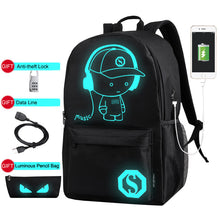Load image into Gallery viewer, Luminous Anti-Theft Backpack With USB Charger