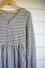 Load image into Gallery viewer, Paige stripe dress - oatmeal/black