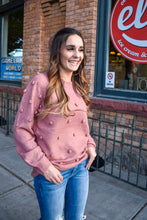Load image into Gallery viewer, Abby pom sweater - mauve