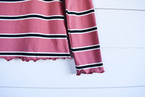Layla stripe top - pink
