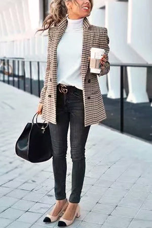 Chic Khaki Suit Coat
