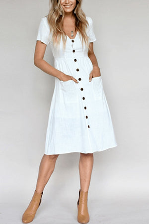 Casual Vibes Short Sleeve Midi Dress
