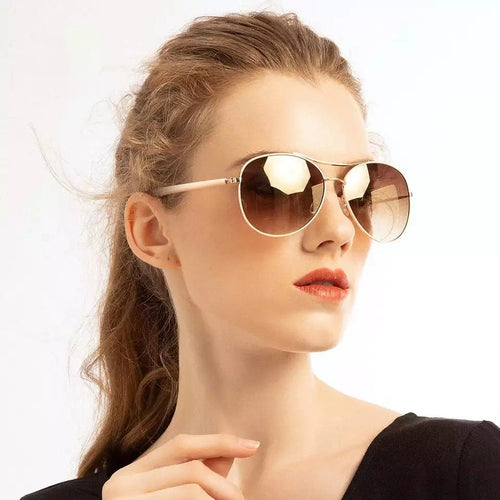 Fashion Gold Frame Classic Unisex Sunglasses - SleekSass