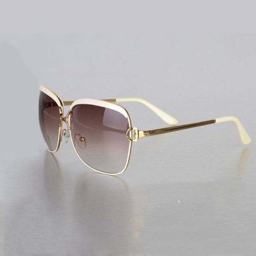 Shiny Alloy Polished UV Protection Sunglasses - SleekSass