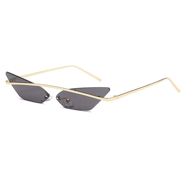 Sexy Cat Eye Sunglasses, With Metal Crossbar Frame - SleekSass