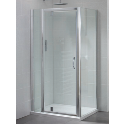 April Identiti2 Pivot Shower Door 6mm Glass 760mm