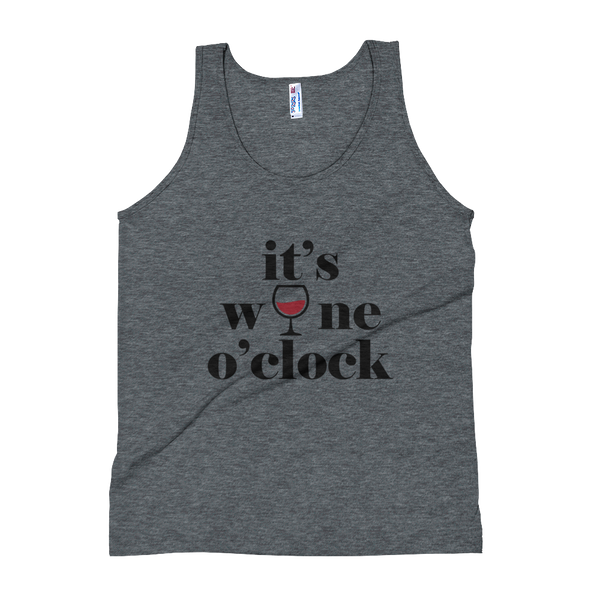 """It's Wine O'clock"" Unisex Tank Top Apparel - Lavished Collection"