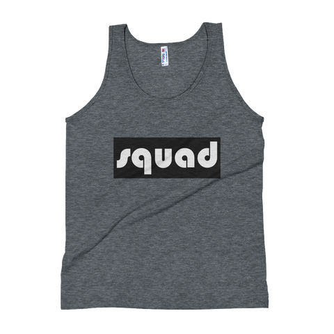 """Squad"" (Black & White) Unisex Tank Top Apparel - Lavished Collection"