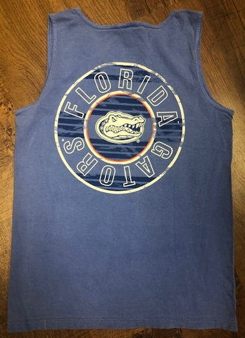 Florida Gators Stipe & Circle Men's Tank Top