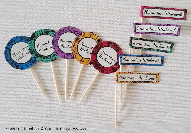Ramadan Cupcake Topper Classic Collection