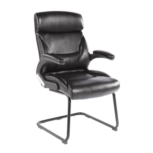 Black Leatherette Office Guest Chair