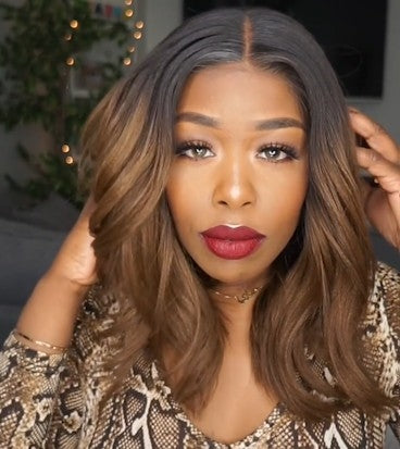 2019 New Affordable Ombre Brown Bob Basic Cap Frontal Lace Wigs for Summer