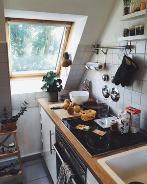Kitchenette with pull down roof window