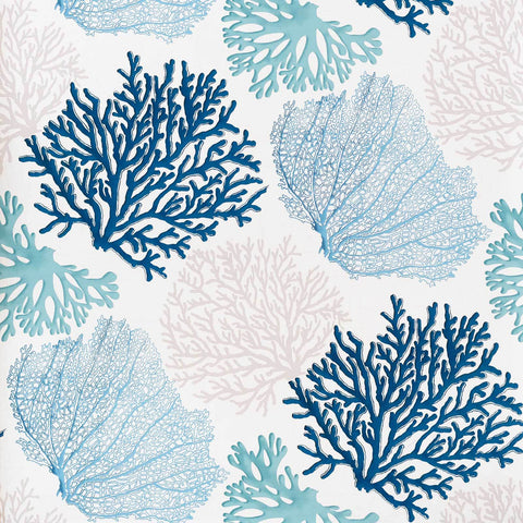 Blue coral wallpaper aqua ocean