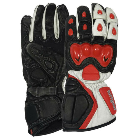 Tuff Gear Motorbike Motorcycle Leather Gloves