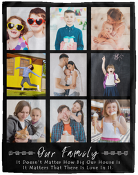 personalised photo blankets