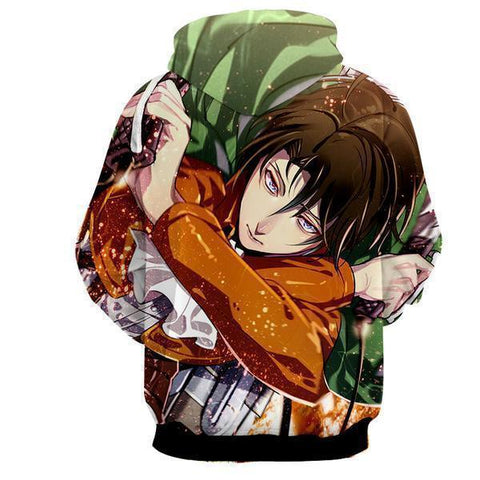 Image of 3D Printed Hoodie-Attack On Titan Levi Ackerman