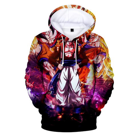 Image of Dragon Ball Z Hoodies - Dragon Ball Anime Series GOKU Super Saiyan Hoodie